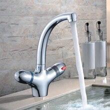 Термостатический термостатический смеситель для кухни раковина раковина кран смесителя ванная комната термостатический кран