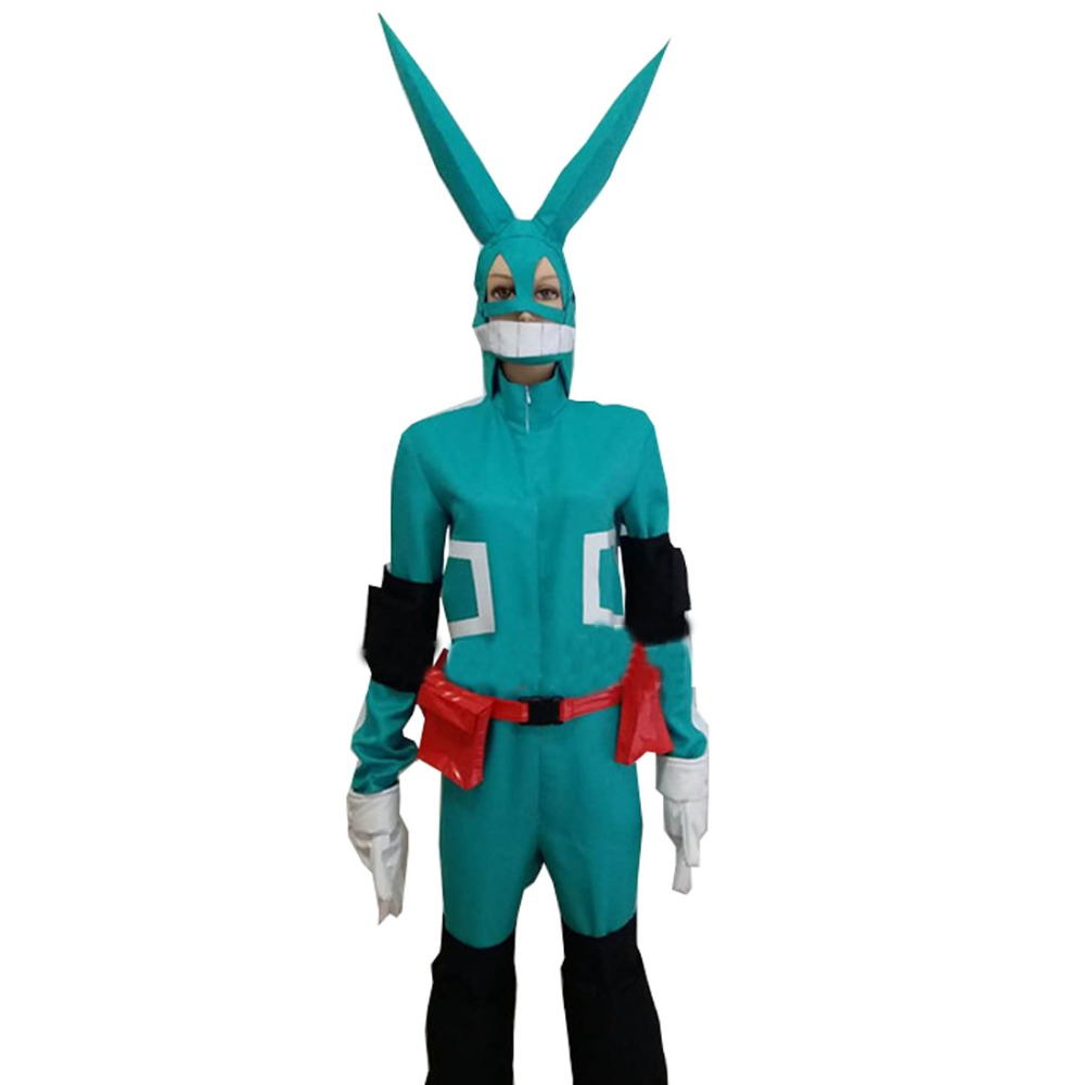 My Hero Boku no Hero Academia Midoriya Izuku Deku Battle Cosplay Costume