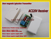 Wireless Sensor Transmitter Control Wireless Receiver Relay Door Magnetic Induction Control WC Washroom Light LED Lamp