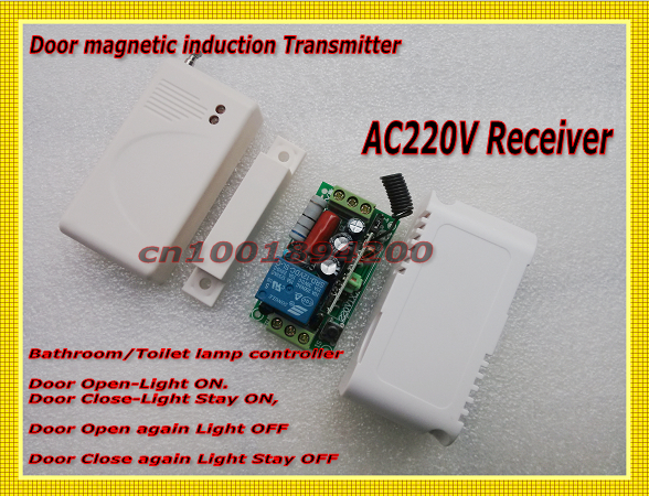 Wireless Sensor Transmitter Control Wireless Receiver Relay Door magnetic induction Control WC washroom Light LED Lamp asim rashid sheikh wireless sensor networks