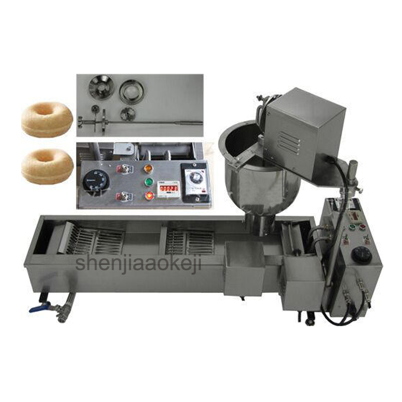 Commercial electric Donut Making Machine Donuts Waffle Machine Stainless Steel Automatic donut machine 110v/220v 3000w 1pc free shipping 110v 220v 5 pcs plum blossom sweet donuts making machine