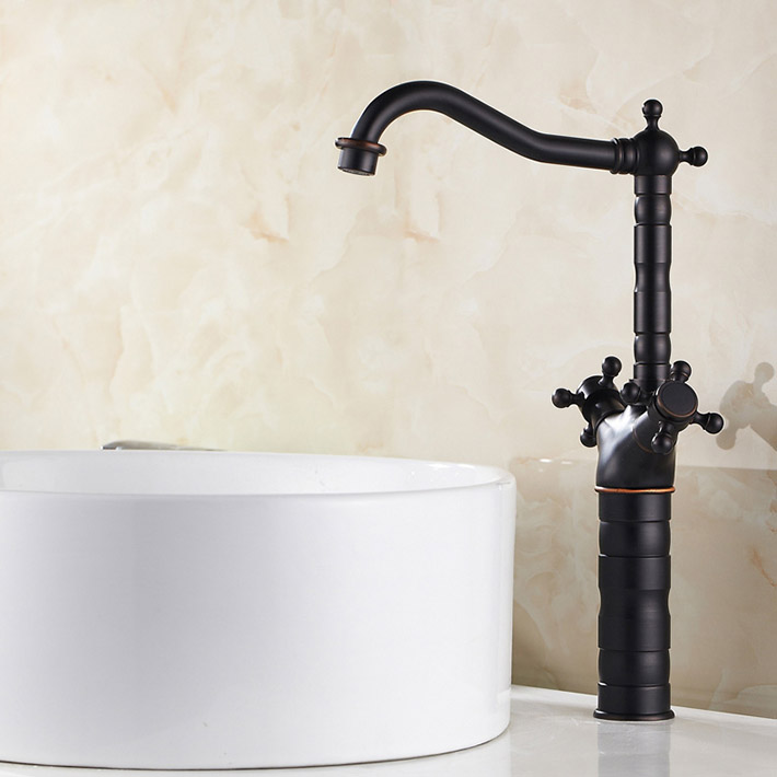 Fashion oil rubbed bronze  copper faucet basin cold and hot water counter basin water tap   antique black mixerFashion oil rubbed bronze  copper faucet basin cold and hot water counter basin water tap   antique black mixer