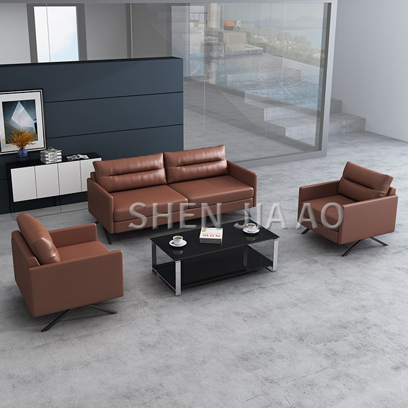 Simple Style Office Sofa Nordic Three seat Sofa Reception Room Business Meeting Fashion Office Sofa 1PC
