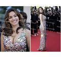 heavy beaded V-neckline sexy mermaid heavy beaded red carpet dress celebrity dresses new for evening