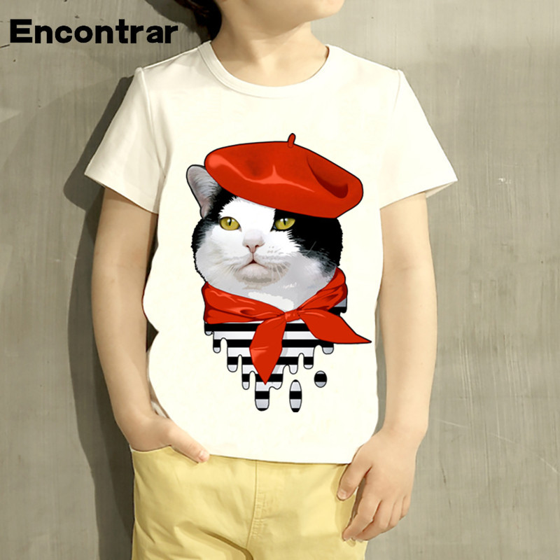 Intelligent Kids Pulp Pandas Design T Shirt Boys/girls Great Casual Short Sleeve Tops Children Cute T-shirt,hkp2283 Clear-Cut Texture