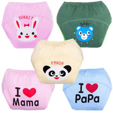 1Pcs Cotton Baby Training Pants Baby Diapers Nappies Reusable Diapers Nappy Changing Kids Underwear Children Boys
