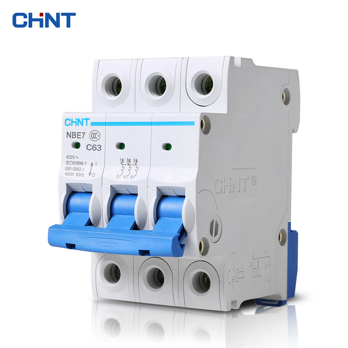 CHINT Miniature Circuit Breaker Three Phase Air Switch NBE7 3P 63A Miniature Circuit Breaker
