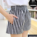 plus size 4xl shorts women summer style 2016 bermuda feminina Elastic waist wide leg ladies shorts women pantalon femme A0250