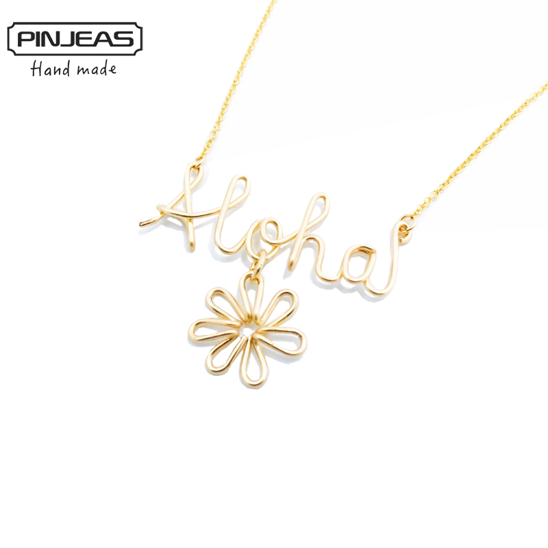 pinjeas custom name hawaiian necklace handmade diy word