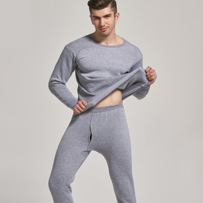 Mens Thermal Underwear Set Winter Long Johns Thermo Suit 4XL Long Underpants Warm Shirt Mens Bodysuit Termica Slimming O Neck