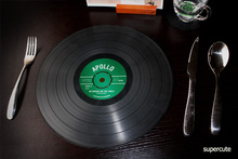 Vinyl record table mat / silicone placemat (2 pcs)