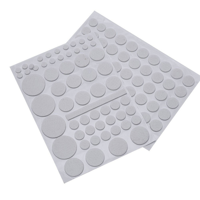 132/Sets Furniture Floor Protector Felt Pads Cushion Mats Self Adhesive Chair  Feet Legs Glides
