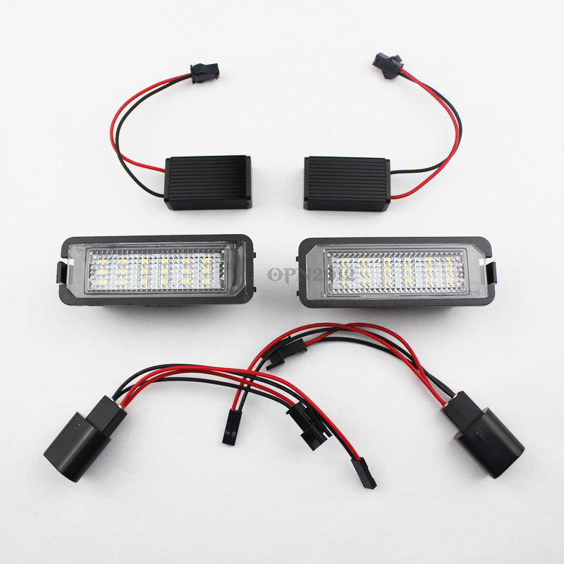 2 x 18 SMD Error Free LED License Plate Light For VW Golf 4 5 6 EOS Passat Phaeton Scirocco New Beetle LUPO Derby 2363 2pcs error free led smd license plate light for toyota land cruiser lexus gx lx470 new dropping shipping