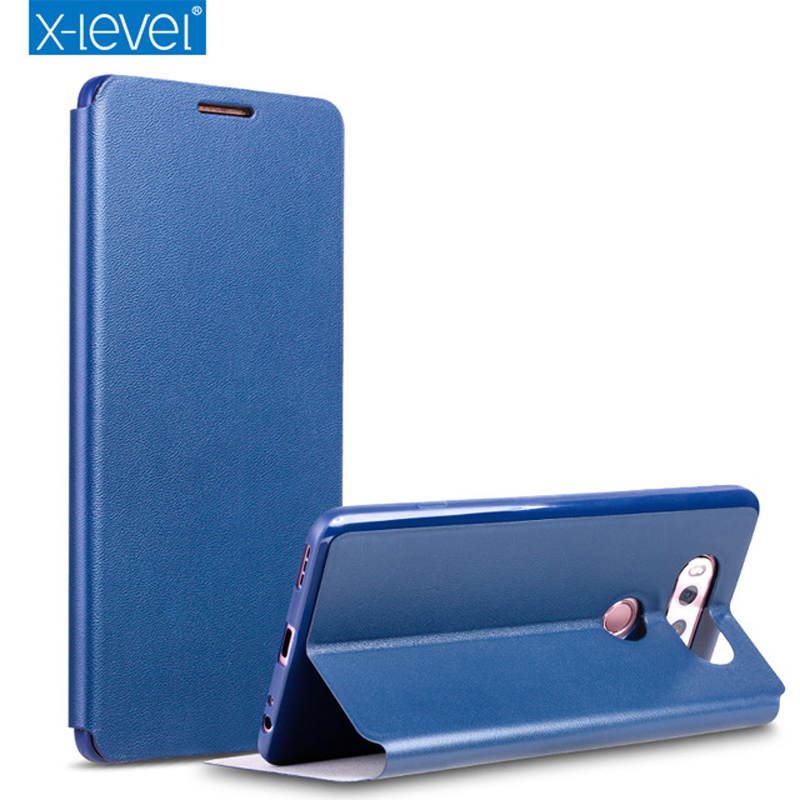 Цена за X-уровень кожаный чехол для LG G6 G5 G4 H850 LS992 H815 F500 бизнес флип Чехлы для LG V20 G4 Pro H968 Kickstand чехол