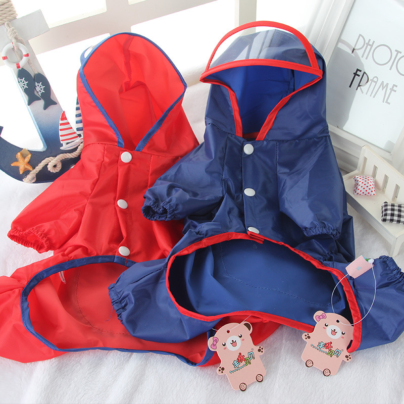 Dog Clothes Dog Raincoat Pet Clothing Apparel Jacket Small Medium Puppy Waterproof Solid Dog Raincoat Puppy Dog Jacket
