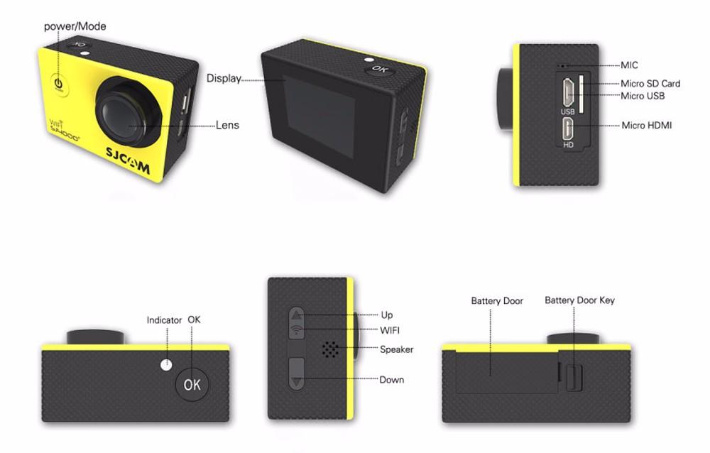 original sjcam sj4000+ plus wifi 2k action camera 10
