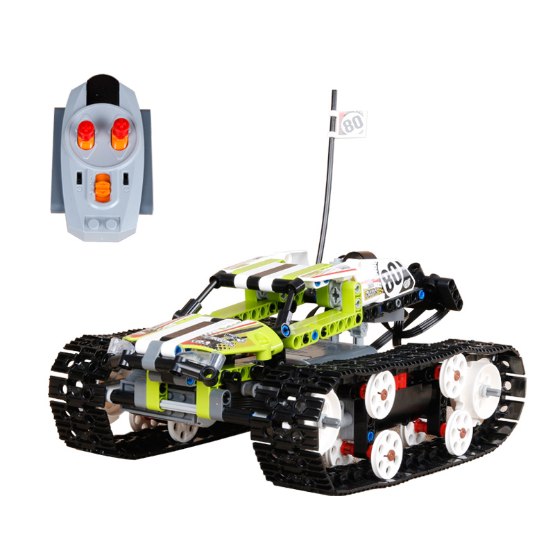Compatible Legoe Technic 42065 model 20033 1347pcs RC Track Remote-control Race Car building blocks Bricks toys for children glow race track bend flex glow in the dark assembly toy 112 160 256 300pcs slot race track 1pc led car puzzle educational toys