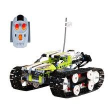 Compatible Legoe Technic 42065 modelo 20033 1347 unids RC Pista de Carrera de Coches de control Remoto bloques de construcción de Ladrillos de juguetes para niños