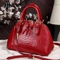 Novo estilo mulheres bolsa da forma bolsa de couro aslant bolsas de couro Ms pacote de shell b-8488
