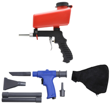 2 in 1 Portable Air Vacuum Blower Suction Airbrush Spray Gun Sandblasting Gun Set Pneumatic Cleaner Sand-blasting power tool