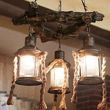 Mediterranean Style Restaurant Lamp Chandelier 3 Light vintage light Free shipping