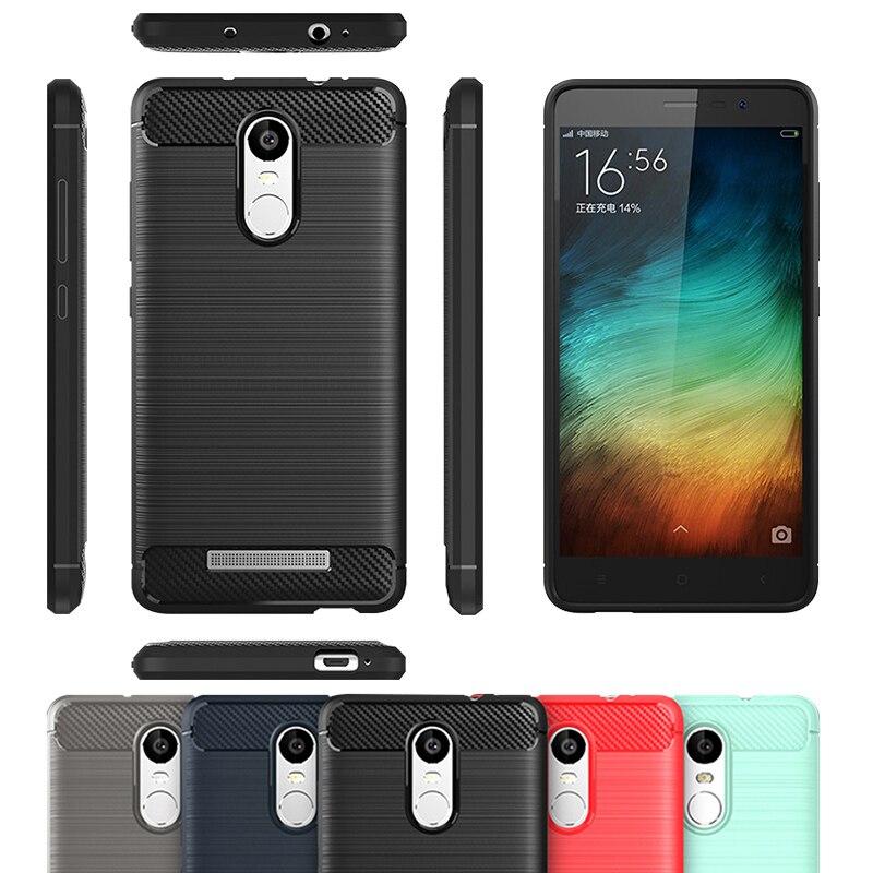 super popular 44611 c0454 Case For Xiaomi Redmi Note 3 Cover TPU Soft Carbon Fiber Anti Knock  Anti-Skid For Xiami Xiaom Xaomi Redmi Note 3 Pro Prime Case