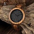 BOBO BIRD WD30 Marca de Diseñador Líder, Reloj en Madera para Hombre de Madera Zebra, Relojes de Cuarzo de Madera para Hombres, Reloj en Caja de Regalo