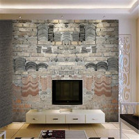 Barber Custom Photo Wallpapers For Walls 3D Murals Retro Brick Stone Wall Papers Home Decor for Coffee Restaurant Wall Murals