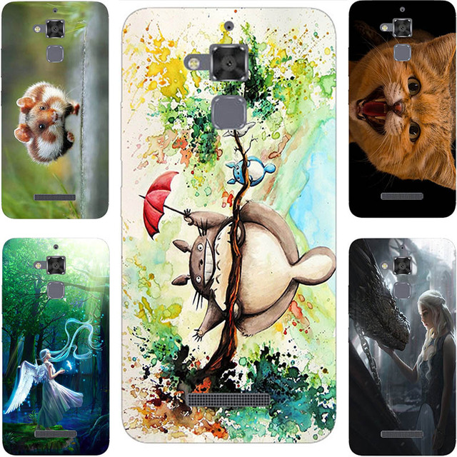 Painting Case for Asus Zenfone 3 Max Zc520tl Cute Cat Girl Angel