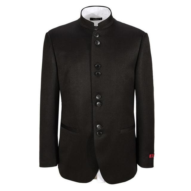 Мужчины куртка свадьба жених красивый пиджак моды популярный стиль Мандарин воротник заказ высокого качества для мужчин куртка