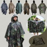 Military Waterproof Camo Raincoat Rain Coat Men Women Raining Poncho for Camping Poncho Windbreaker Rain Jacket Women 3DYY042