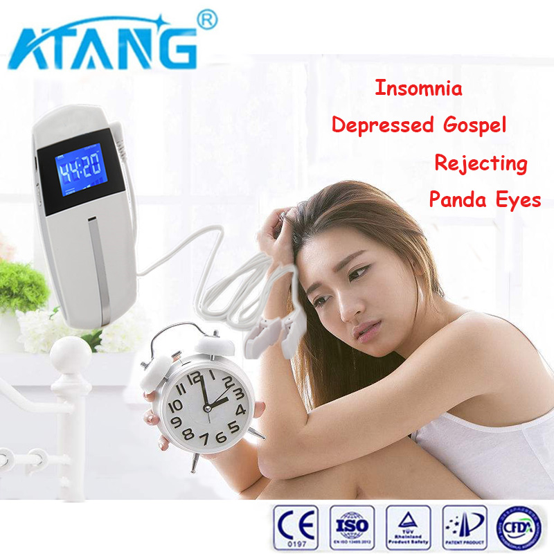 ATANG 2018 New CES the Treatment of Insomnia Transcranial Magnetic Stimulation Simultaneously Reducing Anxiety Depression Pains christmas promotion ces insomnia treatment no side effect therapy equipment