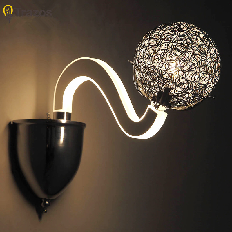 где купить Led Wall Lamp LED Sconce Light Acrylic Modern Home Decoration wall Light for Bedside Bedroom/Dinning Room/Restroom wall lamps по лучшей цене