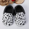 Fashion black white Stripe print genuine real leather baby moccasins boys girls fringe  infant tassel kids shoes free shipping