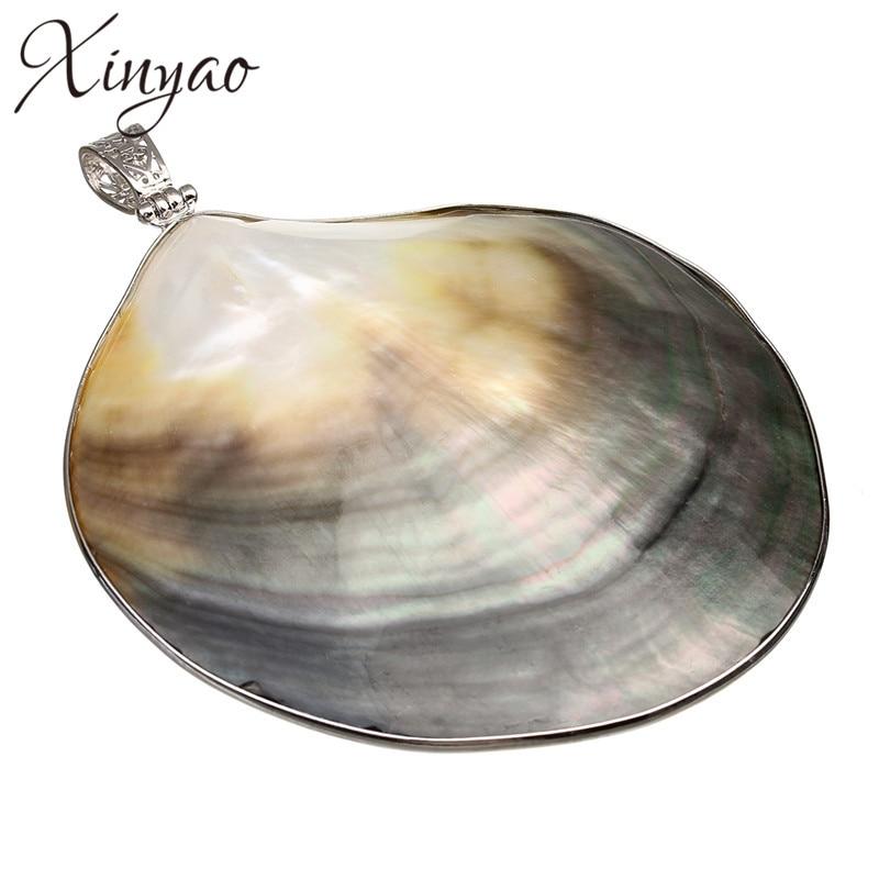 77mm * 97mm 1 PZ Naturale Pendenti Shell Grande Madre di Perla Gioielli di Moda Fare Gocce Accessori FAI DA TE collana Artigianato F1162