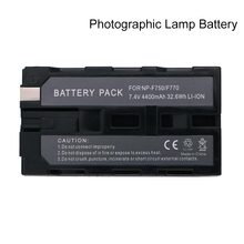 4400mAh NP-F750 F770 Battery For NP-F330 NP-F530 NP-F550 NP-F570 NP-F730 F750 F770 NP-F930 F950 F960 F970 F990 LED Lamp Battery doscing 4pcs 7200mah np f960 np f970 np f930 rechargeable camera battery for sony f950 f330 f550 f570 f750 f770 mvc fd51