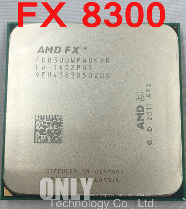 Free shipping AMD FX 8300 Eight-Core 3.2G/8M/95W Processor Socket AM3+ CPU Bulk Package FX-8300  electronics