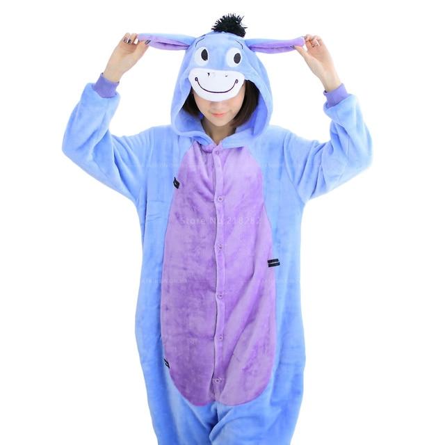 Осень Зима Adual Unisex Косплей Животных onesies Руно Розовый Единорог для Женщин Теплые Пижамы Костюм Pijamas feminino Пижамы мужчин