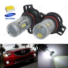 2x H16 PS19W   LED 15W SideLight Daytime Light DRL PSX24W 5202 Bulb White  15 SMD (CA264)