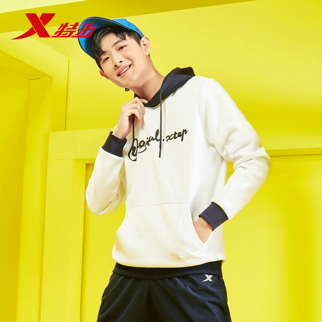 881129059342 Xtep men's hoodies sweater autumn new hoodies sweater trend fashion men's sportwear casual streel sweaters for men 2