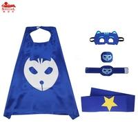 70 70 Cm Boys Blue Cat Cape Mask Set Masque Costume Carnival Enfant Pj Masks Costume