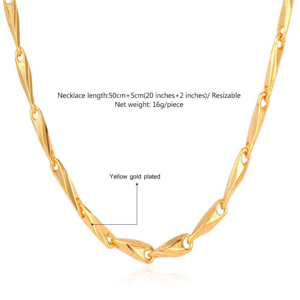 Collare naszyjnik łańcuch złoty/srebrny kolor styl klasyczny moda biżuteria hurtowych Link Chain dla kobiet/prezent dla mężczyzny N409