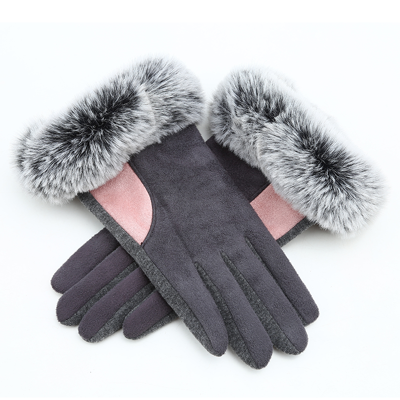 New Rabbit Fur Mittens Winter Gloves