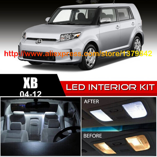 Free Shipping 12pc/lot car-styling LED Lights Car Styling Hi-Q Interior Package Kit For 04-12 Scion xb