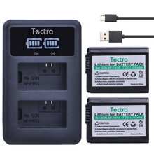Durapro lcd dual usb charger + 2 pcs baterias np-fw50 para sony NEX-7 NEX-5 SLT-A55 A33 A55 A37 A3000 A5000 A5100 A6000 A70000