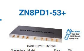 [BELLA] Mini-Circuits ZN8PD1-53-S+ 500-5000MHz Eight SMA Power Divider