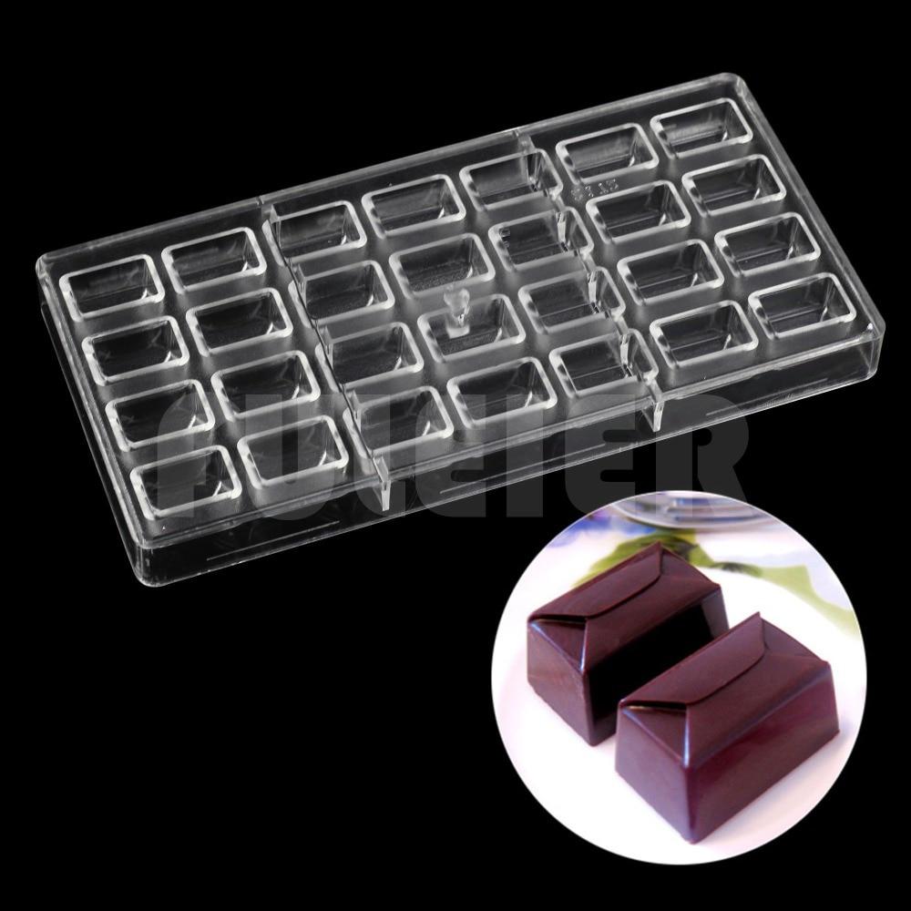 Herramientas de pastelería para manualidades moldes de policarbonato para Chocolate y suministros para hacer chocolates molde para hornear