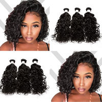 Water Wave Human Hair Bundles 1 Bundle Deals Wet Wavy Brazilian Hair Weave Bundles Unprocessed Virgin Bundles Venvee