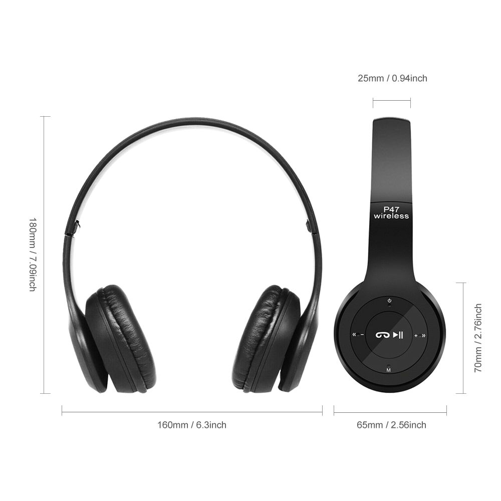 Image 2 - Wireless Headset Bluetooth Foldable  Headset EDR Earphone with Mic FM Radio Strong Bass Music For Phone Pad PS4-in Bluetooth Earphones & Headphones from Consumer Electronics