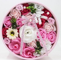 Soap Rose Sunflower Flower With Ribbon Gift Box For Wedding Valentine Christmas Birthday Souvenirs Gifts Favor